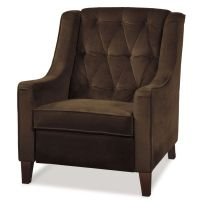 Curves Tufted Chair in Purple and Chocolate Brown