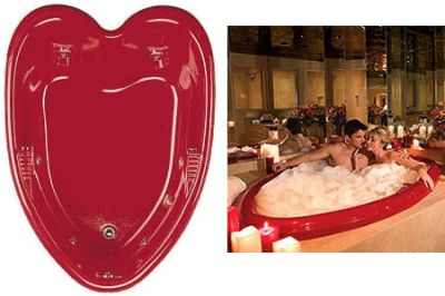 Heart Shaped Bathtub For Valentines Day