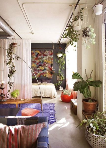 vintage bedroom ideas with plants What is a studio apartment?