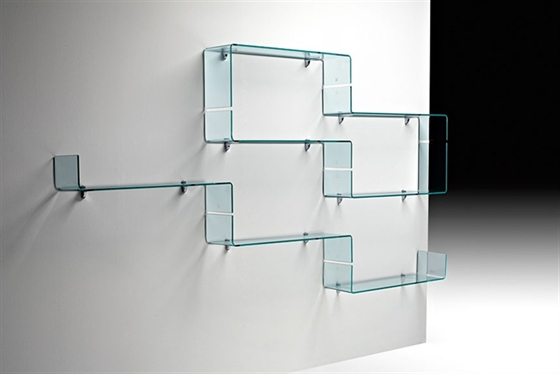 living room glass shelves second hand furniture for sale babila by luca casini view in gallery