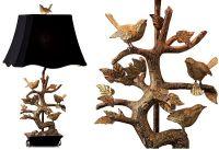 Elegant Brass Bird Table Lamp