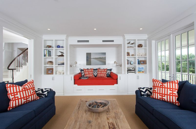 red and white living room simple design images attractive interior designs built in couch