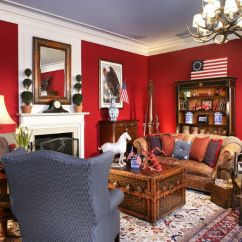 Red And White Living Room Small Kitchen Dining Design Attractive Interior Designs Walls Decor