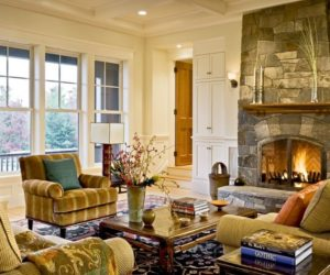 how to arrange furniture in a large living room with fireplace turquoise walls the around