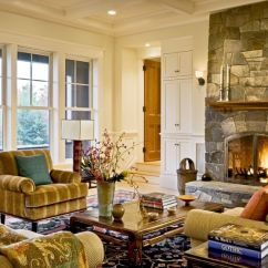 Arrange Living Room With Fireplace Orange And Brown Curtains How To The Furniture Around A