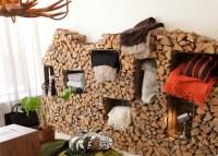 A Rustic Indoor Firewood Storage Idea
