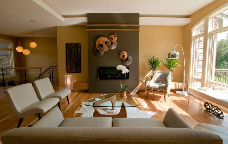how to paint a living room wall decorating country style separate zones sharing the same floor space using