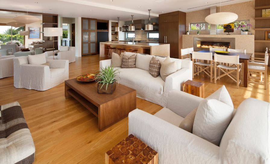 arrange living room furniture open floor plan silver how to decorate a kitchen that's also part of the