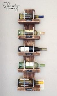 Rustic DIY Wine Rack by Matthew Richter