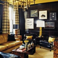Burgundy And Brown Living Room Rooms To Go Package With Tv Come The Dark Side – Displaying Artwork On Black Walls