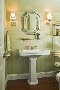 Powder room decoration: awesome!!