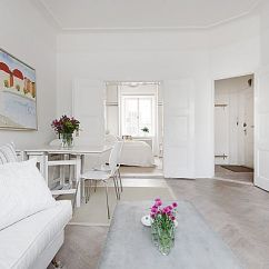 Ideas For Decorating A Very Small Living Room With Light Hardwood Floors Absolutely Exquisite White Apartment