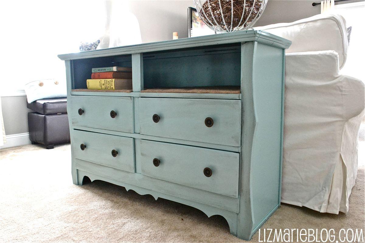 Great DIY Dresser Turned Into a Bookshelf