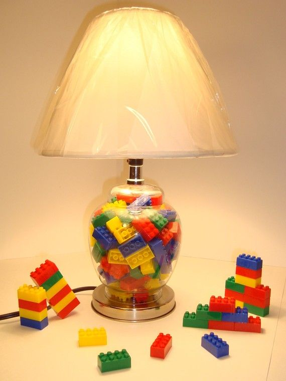 Cute Diy Mini Lego Led Lamps