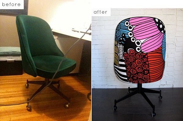 hot pink office chair electric lift chairs harvey norman 28 before-after reupholstered