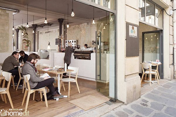 paris themed living room small open plan and kitchen designs coutume interior design cafe by cut architectures
