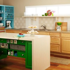 Colored Kitchen Islands Nook Seating Nice Diy Colorful Island