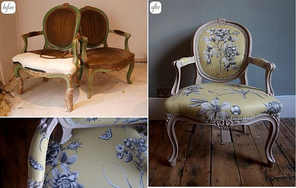 28 BeforeAfter Reupholstered Chairs