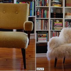 Diy Reupholster Living Room Chair Furniture Set Deals 28 Before After Reupholstered Chairs View In Gallery