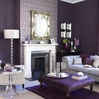 black white and purple living room ideas 2017 - Grasscloth ...