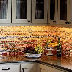Kitchen Mosaic Farm Style Table 16 Wonderful Backsplashes
