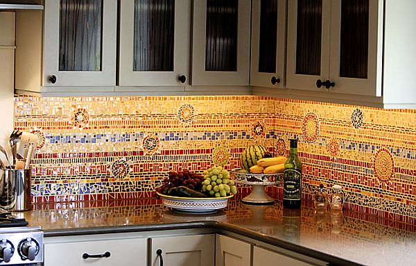 kitchen backsplashes cabinets wood 16 wonderful mosaic