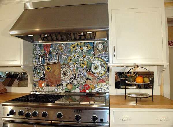 kitchen back splashes light bulbs 16 wonderful mosaic backsplashes view in gallery