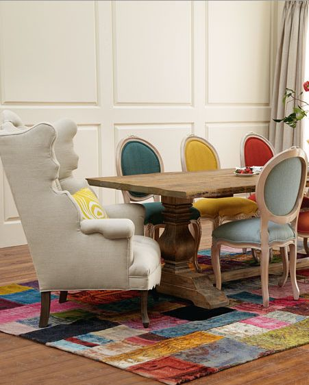 elegant and colorful dining