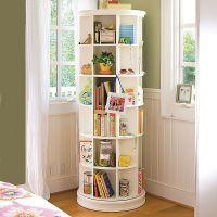 Space-saving revolving bookcase