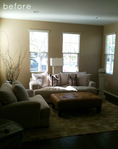 Living room makeover in 3 months