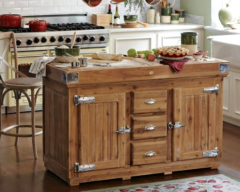 oak kitchen islands stainless steel knobs for cabinets the berthillon french island wood