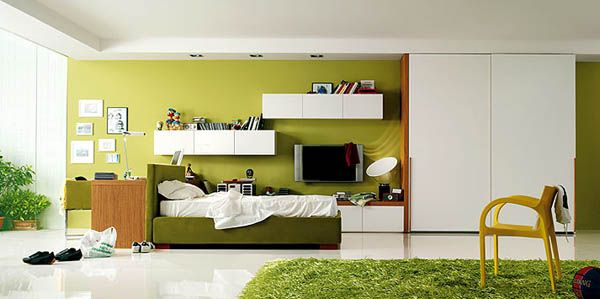 room for teens girl green picture Design A Room