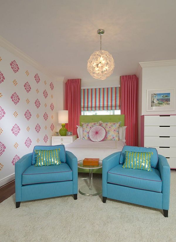 funky living room wallpaper making a window between kitchen and 55 design ideas for teenage girls