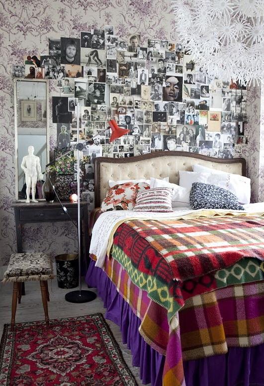 Chic and inviting retro interior dcor