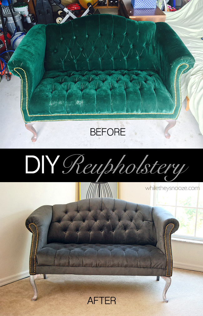 diy sofa reupholstering everyday beds uk how to update your home décor with a reconditioned