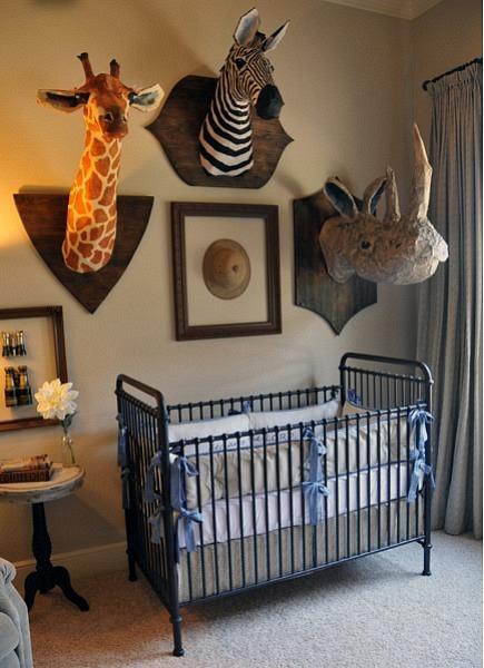 Chic and fun safari nursery