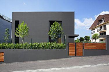 grises facade fachadas casas colores crne fachada zagreb exteriores kuće colonial dva arhitekta casa moderna estilo croatia referenzen facades modern