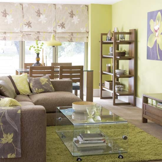 lime green and brown living room ideas with dark wood furniture 28 decoration view in gallery