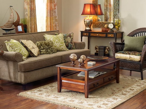 Sage Green And Brown Living Room Ideas