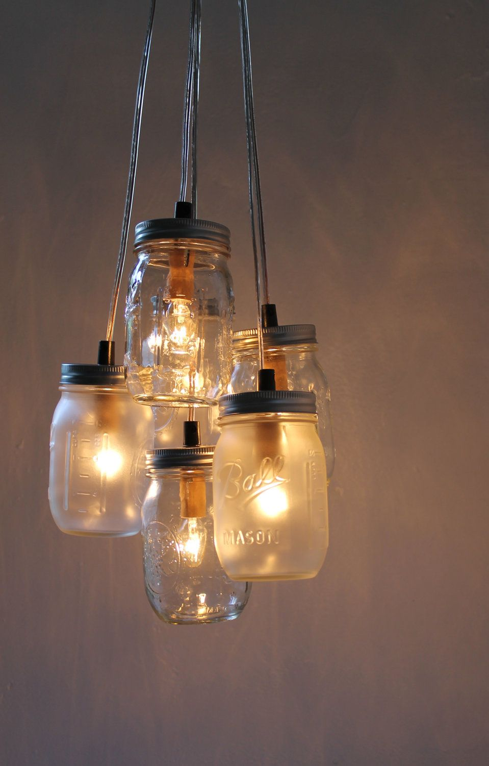 How To Upcycle Mason Jars Into A Chandelier
