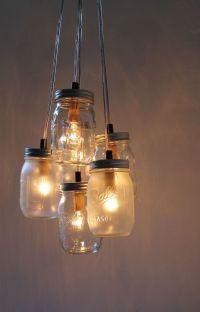 Diy Mason Jar Light Chandelier | Car Interior Design