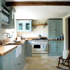 Renovated Kitchen Small Storage Stylish Turquoise By Parlour Farm