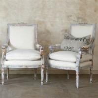 The unique Louis XVI Gustavian Grey chair set