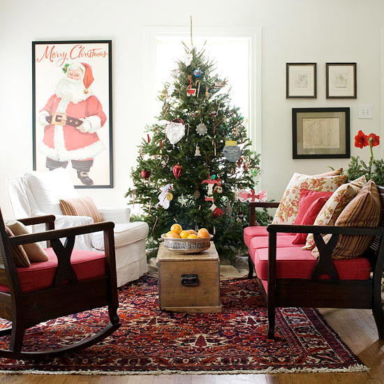 christmas decoration ideas for small living room blue walls brown couch 25 design