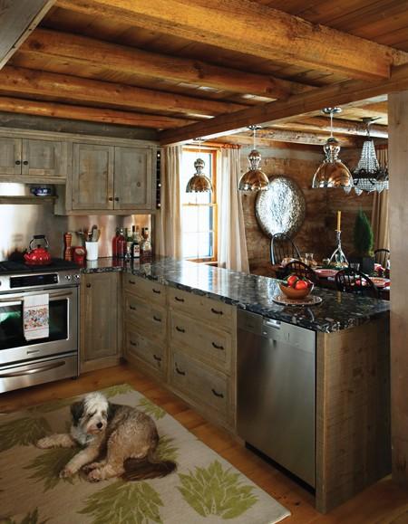 Kate Thornley Halls Century Old Log Ski Cabin In