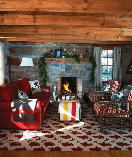 Kate ThornleyHalls centuryold log ski cabin in