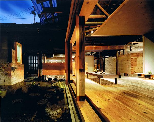 Traditional wooden town house renovation in Nara Japan