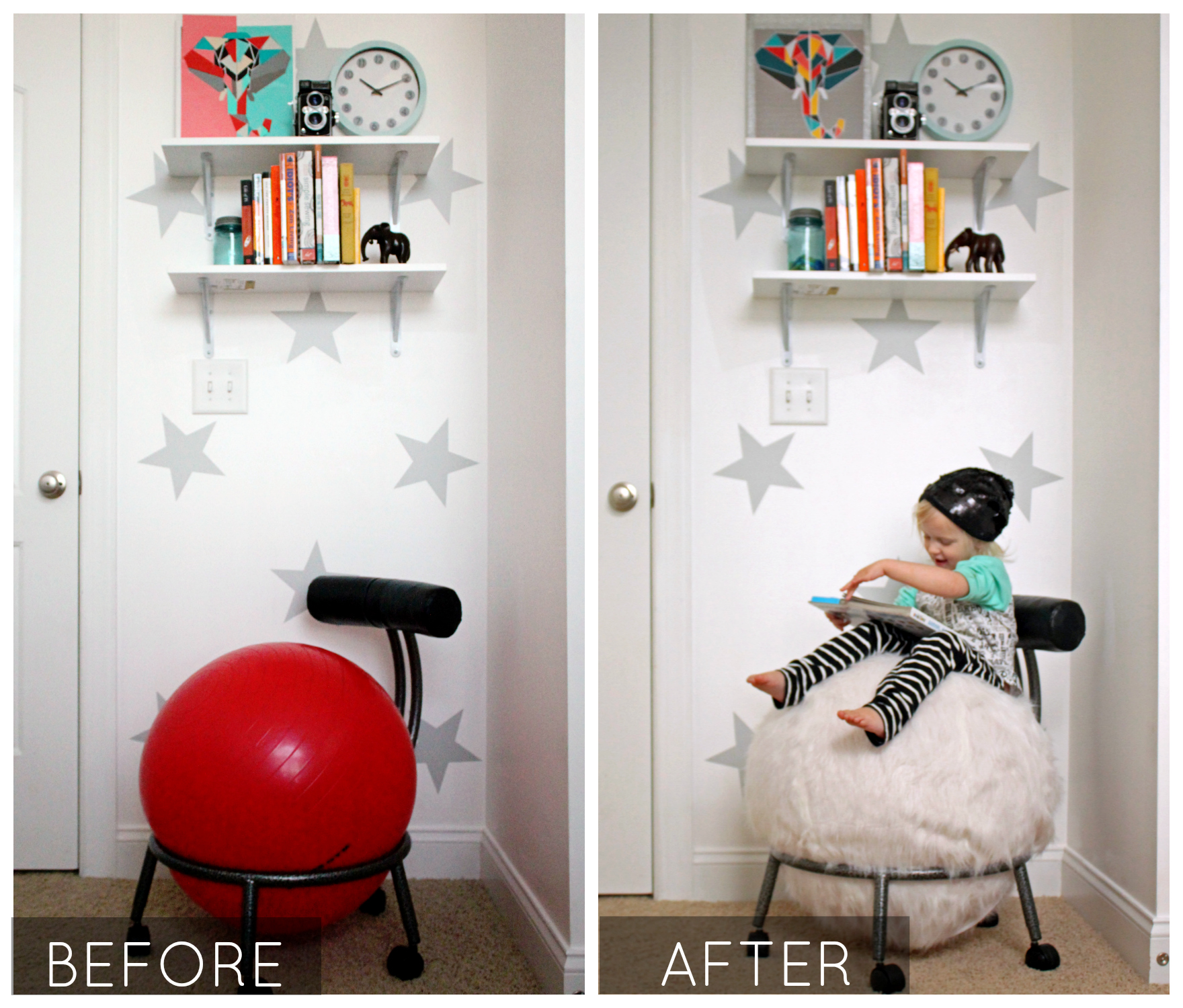 chair gym before and after college bean bag chairs how to revive a with new upholstery