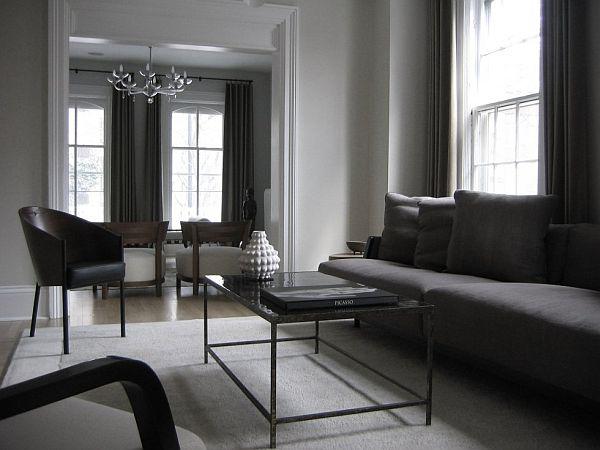 black white and gray living room 21 Gray living room design ideas