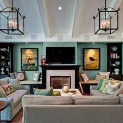 Living Rooms With Blue And Brown Room Renovations Before After 20 Design Ideas Featuring Accents Throughout View